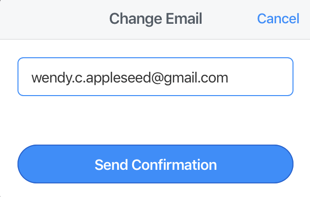 Change your email address