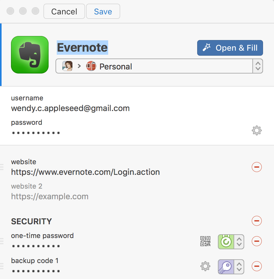 Edit items in 1Password mini