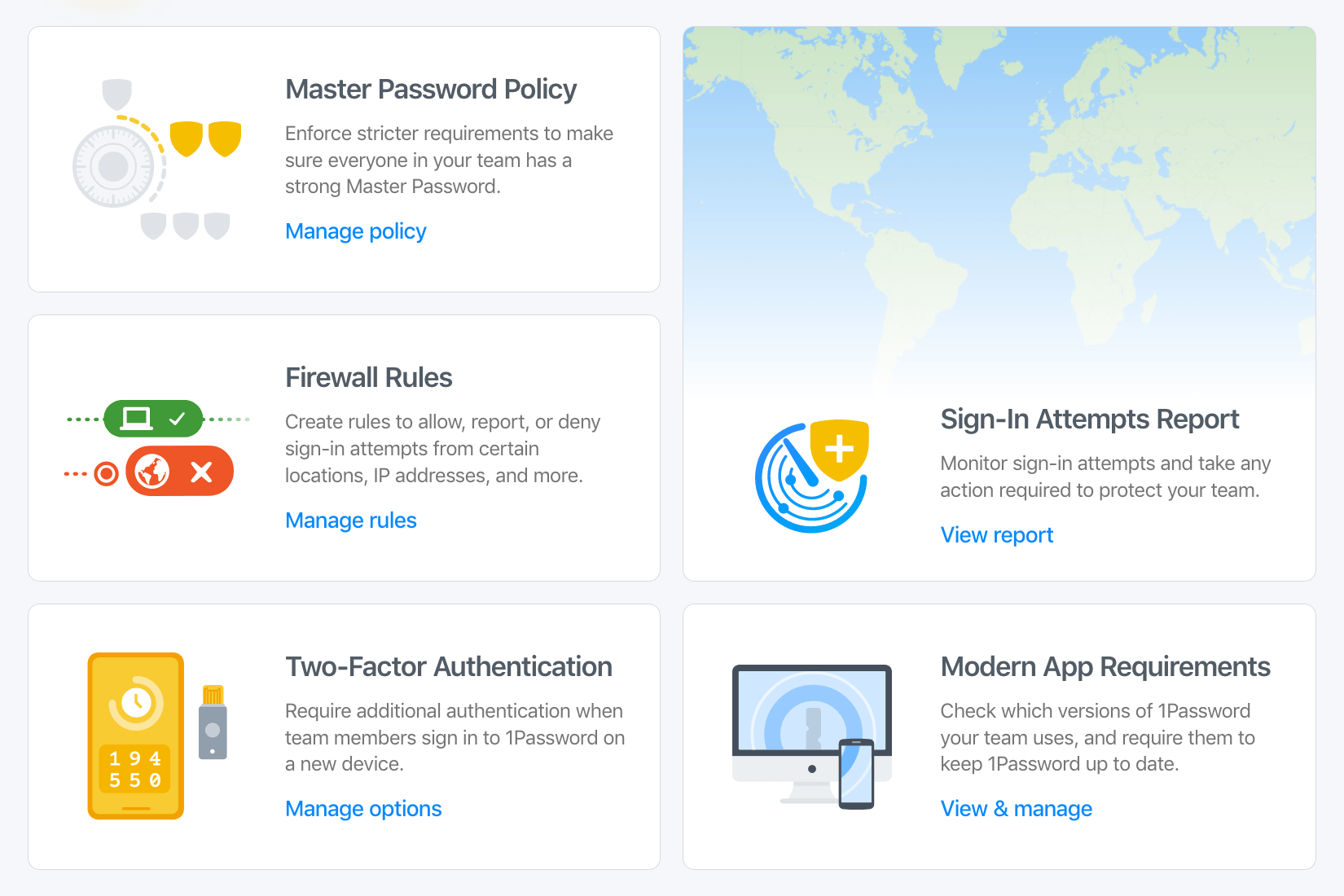 The Advanced Protection dashboard