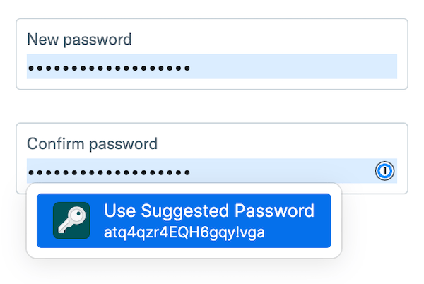 Use a suggested password