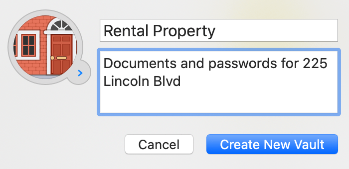 Create a new vault in 1Password for Mac