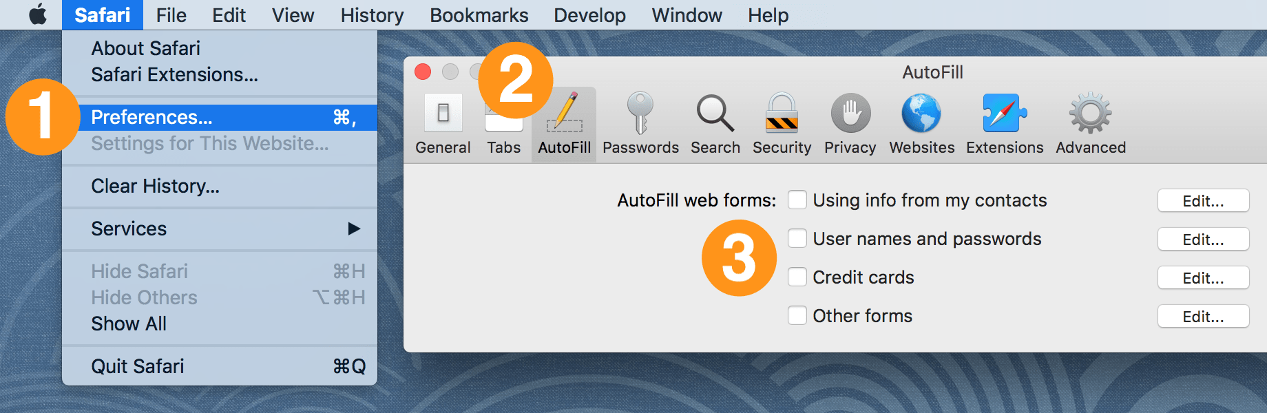 Turn off the built-in password manager in your browser