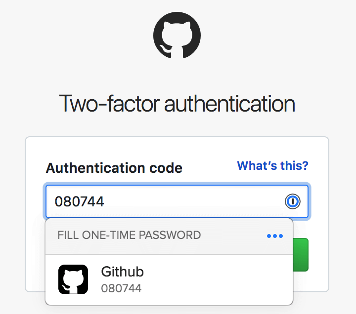Fill two-factor authentication codes with 1Password X
