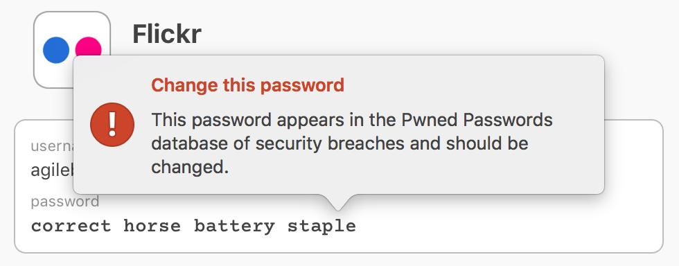 a vulnerable password