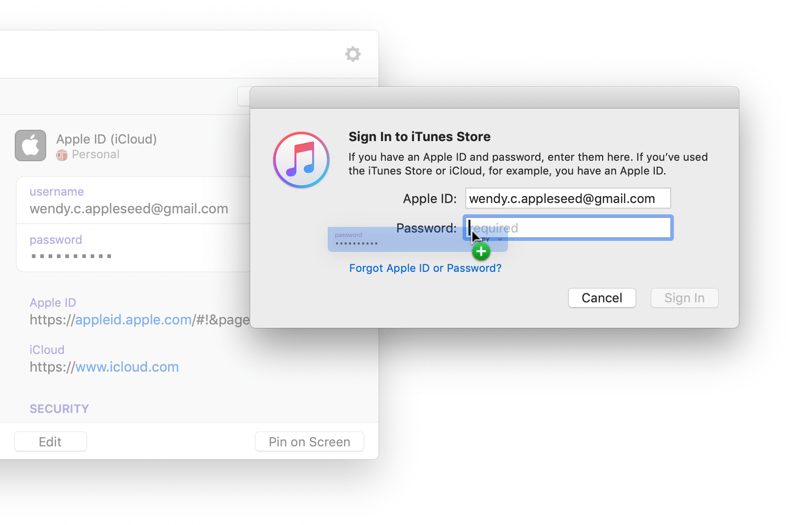 Utiliza 1Password mini para rellenar en otras aplicaciones
