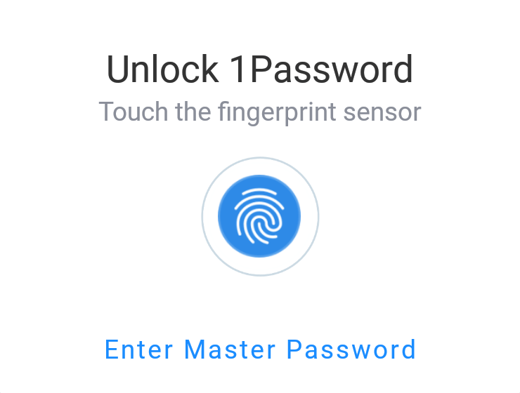 Unlock 1Password fingerprint prompt
