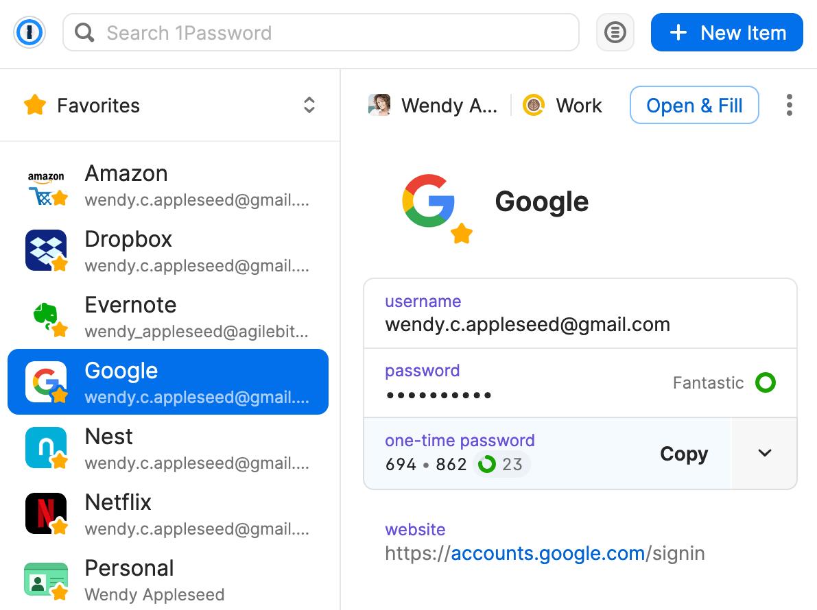Configurer l'authentification à deux facteurs depuis le pop-up de 1Password X