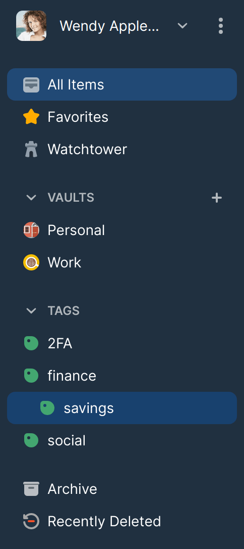 Tags listed in the sidebar