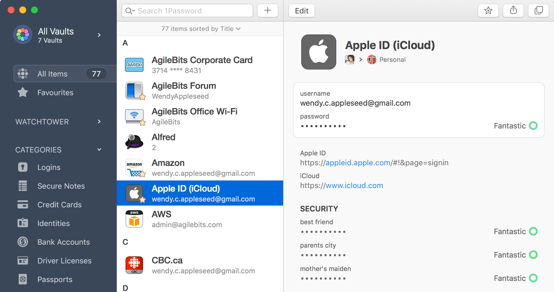 An overview of 1Password 7 for Mac