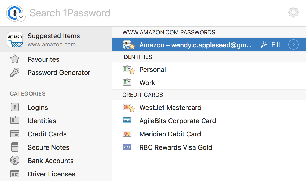 Use the 1Password extension to sign in to websites