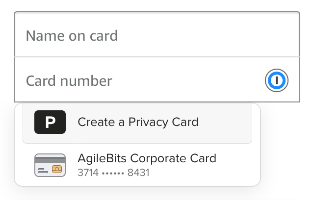 Use 1Password for Safari to fill your credit card or address.