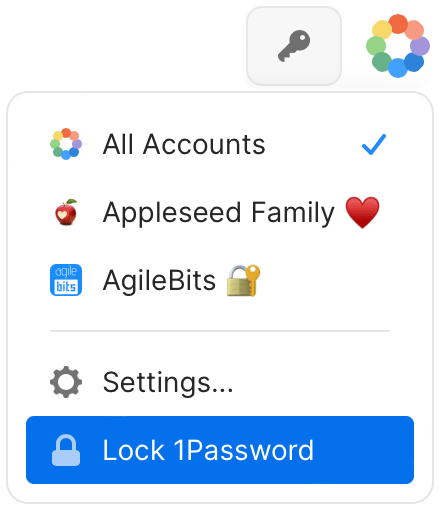 Lock 1Password from the pop-up