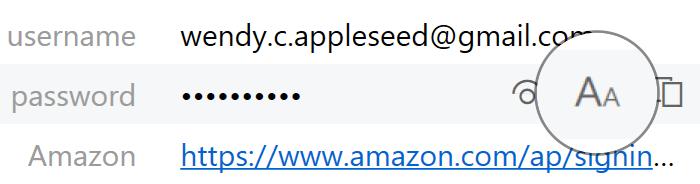 Enlarge passwords