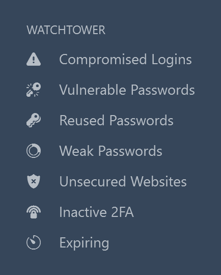 Use Watchtower in the sidebar