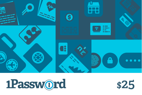 1Password Gift Card