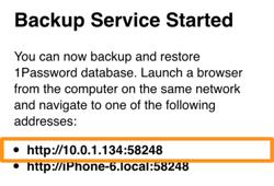 The Backup & Restore screen