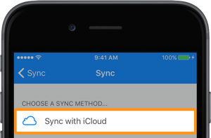 Sync with iCloud