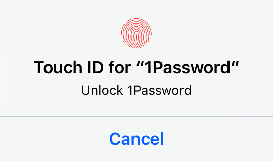 Prompt to unlock 1Password with Touch ID