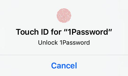 Déverrouiller 1Password avec Touch ID