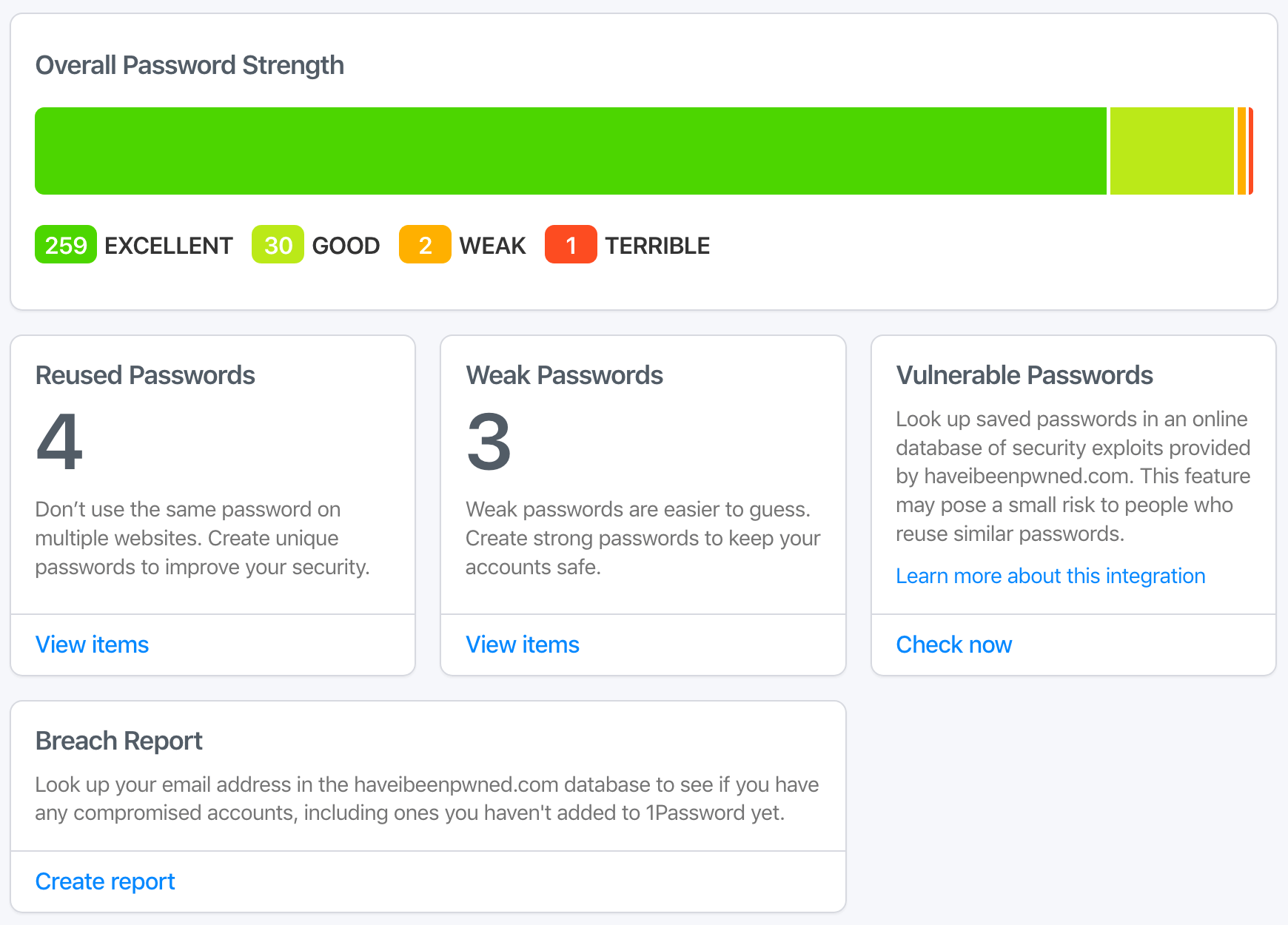 Watchtower on 1Password.com