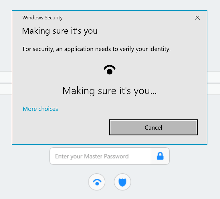Desbloquea 1Password con Windows Hello